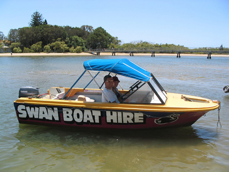 Swan Boat Hire - Accommodation Main Beach