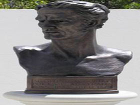 Adam Lindsay Gordon Bronze Bust - Accommodation Main Beach