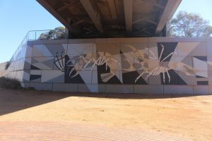 Berri Bridge Mural - Accommodation Main Beach