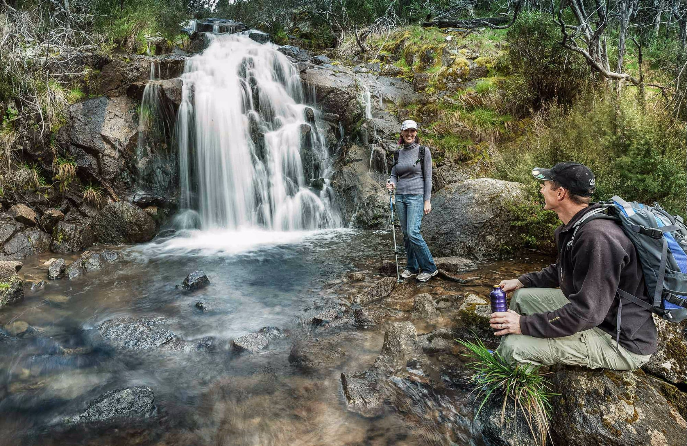 Waterfall Walking Track Kosciuszko National Park - Accommodation Main Beach